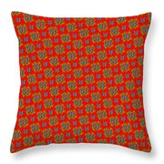 Lalabutterfly Red Reduced Scale Throw Pillow
