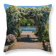 Lale Villarrica, Pucon, Chile Throw Pillow