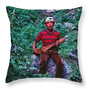 Lama Hotel Throw Pillow
