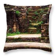 Lamanai Temple Throw Pillow