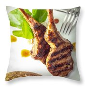 Lamb Chop 4 Throw Pillow