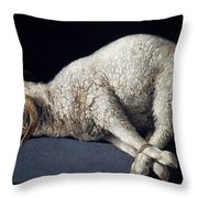 Lamb Of God. Agnus Dei Throw Pillow