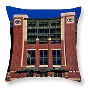 Lambeau Field Green Bay Packers Throw Pillow