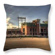 Lambeau Field Throw Pillow