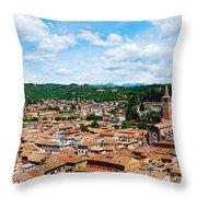 Lamberti Tower View Of Verona Italy Throw Pillow