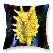 Lambis Digitata Seashell Throw Pillow