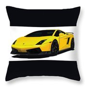 Lambo Throw Pillow