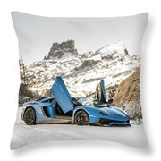 Lamborghini Aventador Sv Throw Pillow