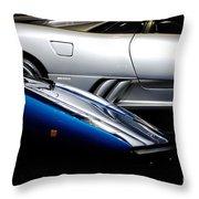 Lamborghini Countach And Lamborghini Diablo Throw Pillow
