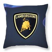 Lamborghini Emblem Throw Pillow