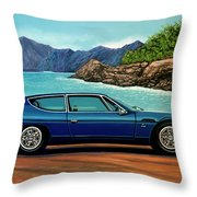 Lamborghini Espada 1968 Painting Throw Pillow