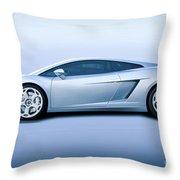 Lamborghini Gallardo 'profile Of Terror' Throw Pillow