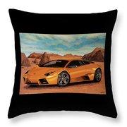 Lamborghini Reventon 2007 Painting Throw Pillow