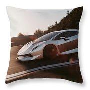 Lamborghini Sesto Elemento - 12 Throw Pillow
