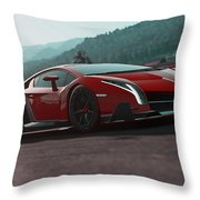 Lamborghini Veneno Throw Pillow