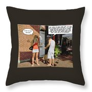 Lame Excuses Throw Pillow by Brian Wallace