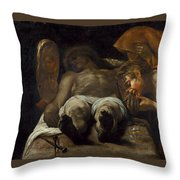 Lamentation Over The Dead Christ Throw Pillow