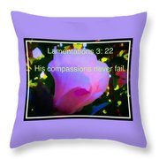 Lamentations His Compassions Never Fail Throw Pillow