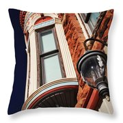 Lamp And Building Details  Throw Pillow