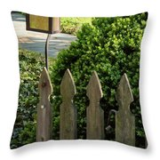Lamp And Gate Throw Pillow