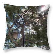 Lamp And Tree Throw Pillow