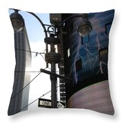 Lampost And Lightning Throw Pillow