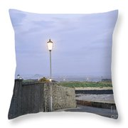 Lamppost. Night Is Coming. Throw Pillow