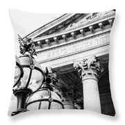 Lamppost With English Dragon Throw Pillow