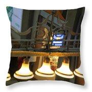 Lamps At The Big C Throw Pillow