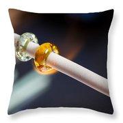 Lampwork Glass Beads 2 Throw Pillow