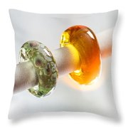 Lampwork Glass Beads Throw Pillow