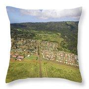 Lanai City Aerial Throw Pillow