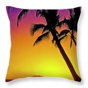 Lanai Sunset II Maui Hawaii Throw Pillow