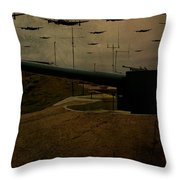 Lancasters Over Newhaven March 30th 1944 Throw Pillow