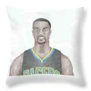 Lance Stephenson Throw Pillow by Toni Jaso