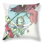 Lancelot And Griffin  Throw Pillow
