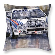 Lancia 037 Martini Rally 1983 Throw Pillow