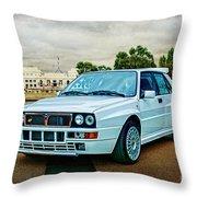 Lancia Delta Hf Integrale Evoluzione Throw Pillow