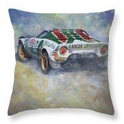Lancia Stratos 1976 Rallye Sanremo Throw Pillow