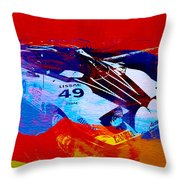 Lancia Stratos Watercolor 2 Throw Pillow