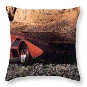 Lancia Stratos Zero Throw Pillow