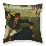 Land Ahoy Throw Pillow