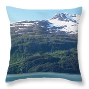 Land And Sea In Whittier Throw Pillow