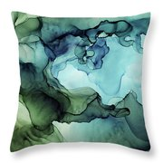Land And Water Abstract Ink Painting Throw Pillow