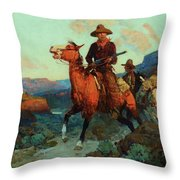Land Beyond The Law Throw Pillow