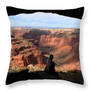 Land Of Canyons Throw Pillow