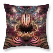 Land Of Confusion Throw Pillow