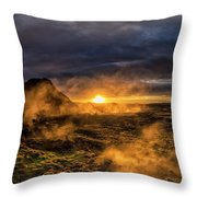 Land Of Fire And Ice Throw Pillow