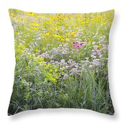 Land Of Flowers Throw Pillow