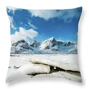 Land Of Ice And Snow Throw Pillow